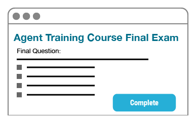 Complete the online exam